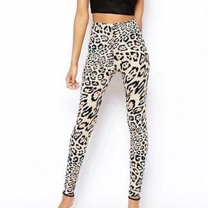 ASOS tan leopard print soft leggings!